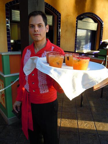 La Cantina de San Angel orange mango fire margarita