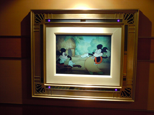 Disney Dream enchanted art - Mickey and Minnie hula