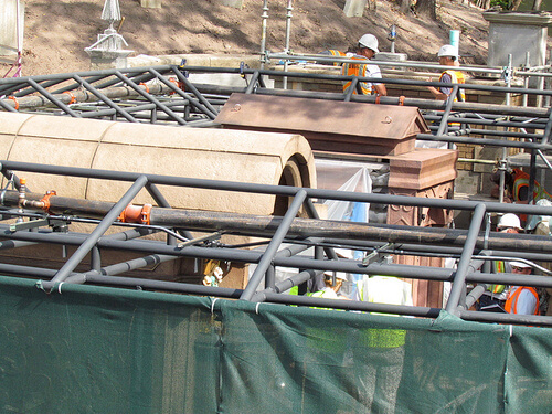 The Haunted Mansion crypt addition