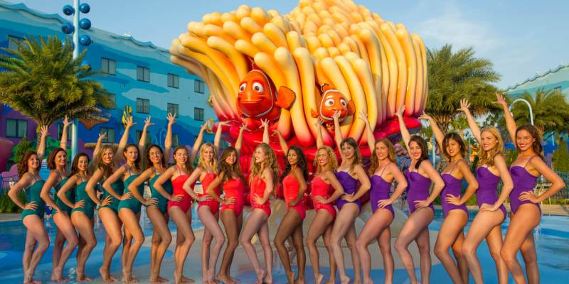Art of Water Ballet Meets DisneyÕs Art of Animation Resort
