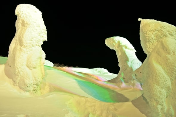 Zao Snow Monsters Closeup in Yamagata, Tohoku, Japan