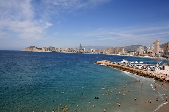 Benidorm Beach & Skyline
