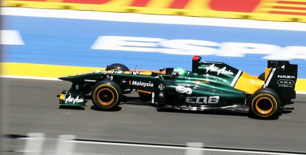 Lotus Formula One Car At Speed