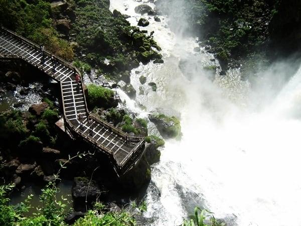Walkway into Iguazu Falls