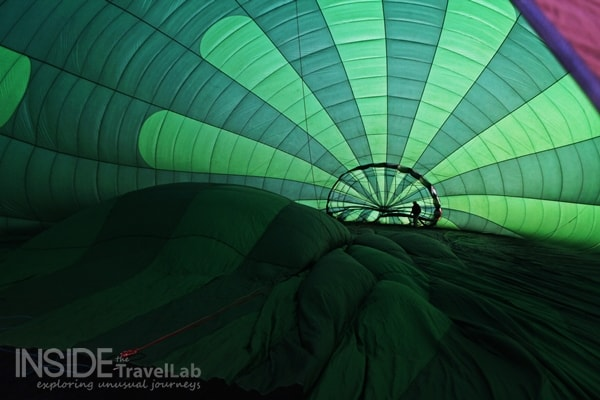 Inside Hot Air Balloon