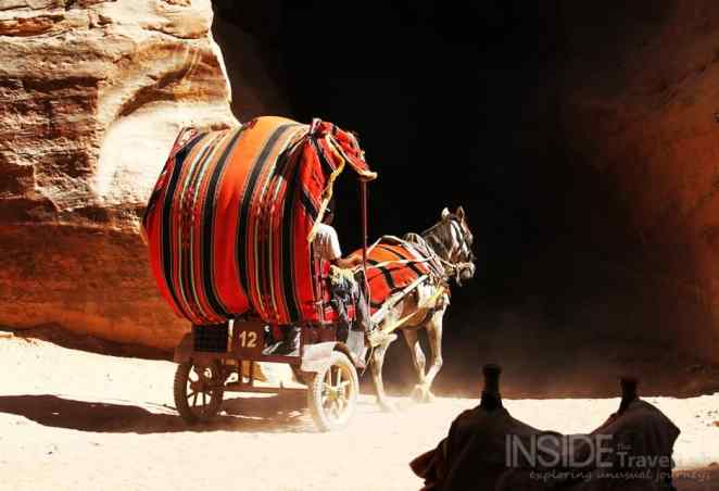 How to visit Petra Jordan in a horse-drawn carriage
