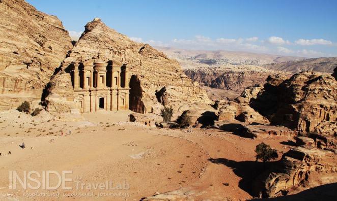 Petra Jordan Monastery from Afar