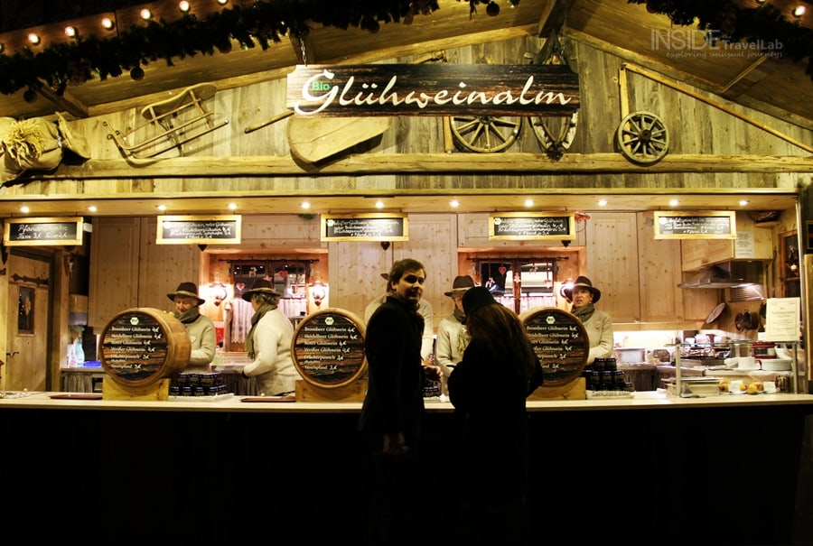 Young couple at Munich Christmas Market