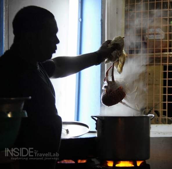 Barbados - cooking live animals