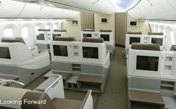 Business Class Royal Brunei Dreamliner 787 Facing Forward