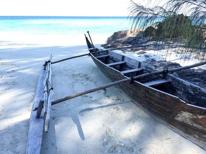 Traditional Malagasy Fisherman Boat in Madagascar