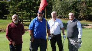 It was a day of fun at the Fall Senior Golf Open at Apple Mountain. Pictured: Bud Chase, Newton, Glenn Roth, Great Meadows, Ken Taylor, Newton, and Tim O'Brien, Belvidere.
