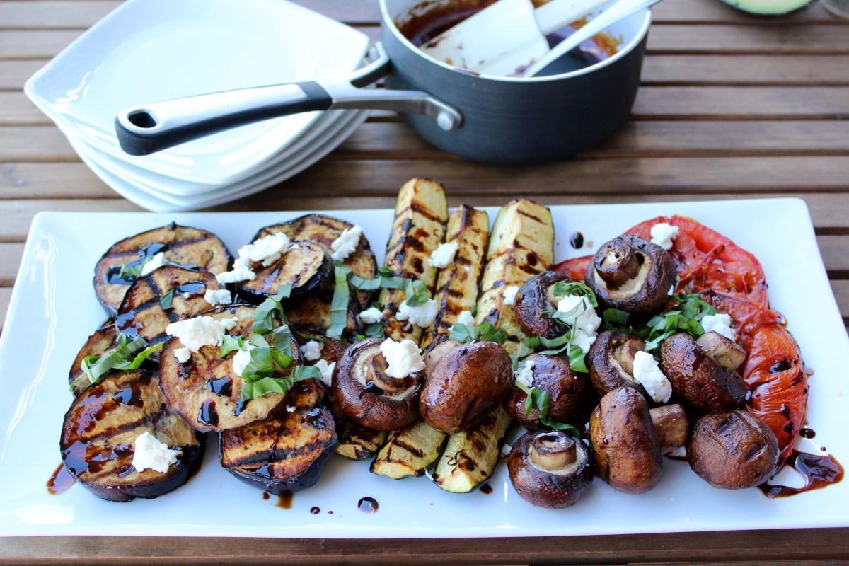 Grilled Vegetables with Balsamic Glaze