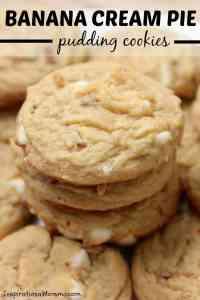 Banana Cream Pie Pudding Cookies