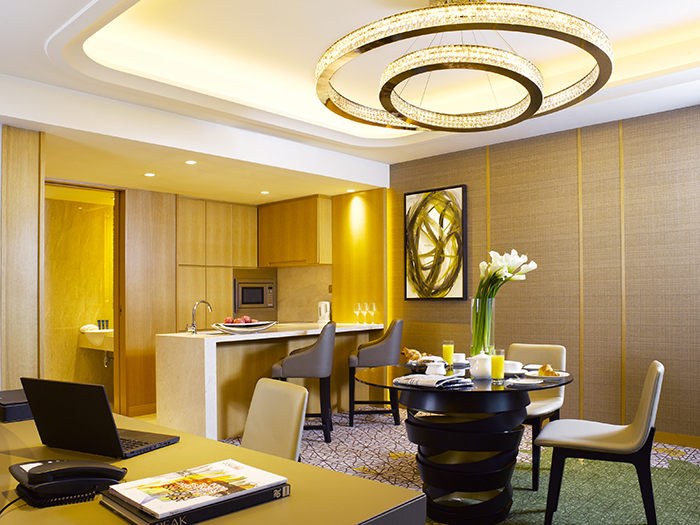 PRSIN_Executive Suite_Dining Area + Kitchen + Powder Room