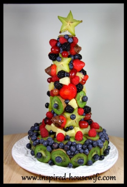&quot;Inspired-Housewife: DIY Edible Fruit Holiday Birthday Cake Arrangement - Party - Gluten Free - Dairy Free