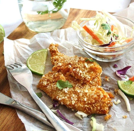 quinoa crusted sole with chili and lime_blog