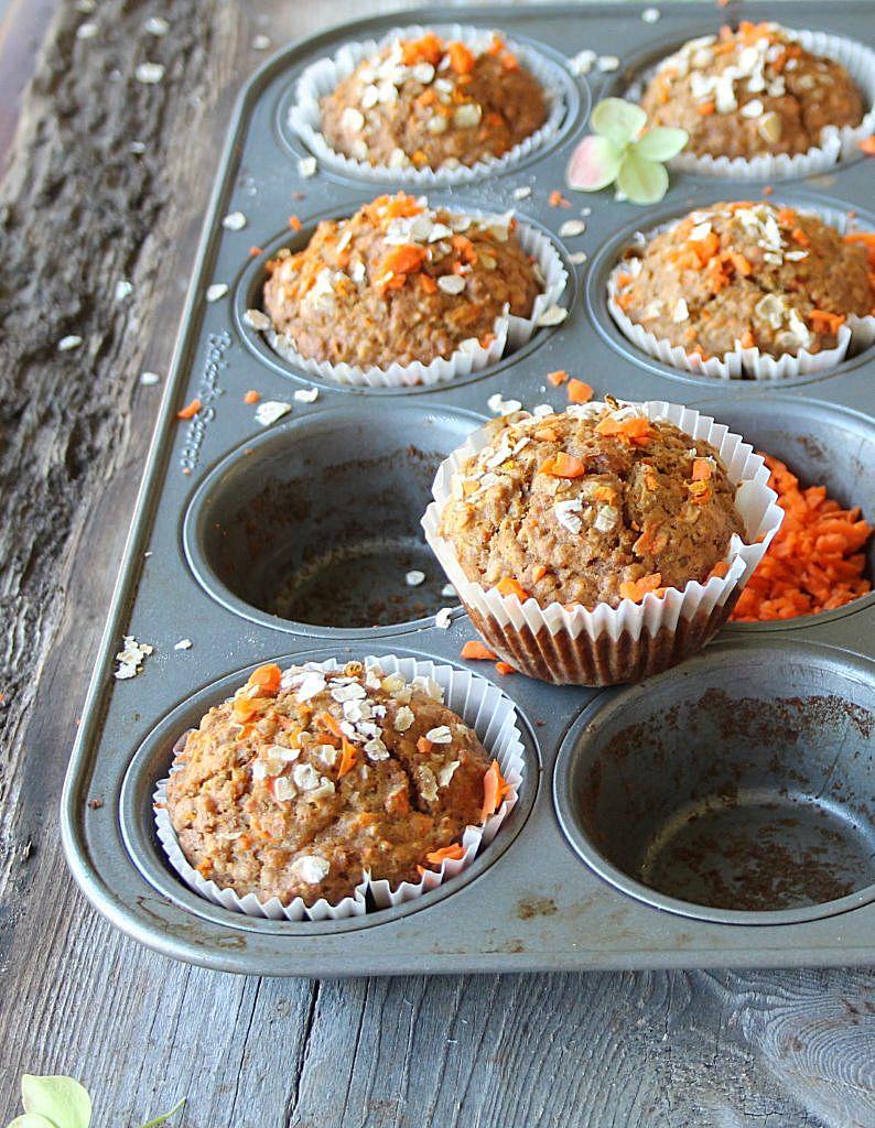 oatmeal carrot muffin_blog 2