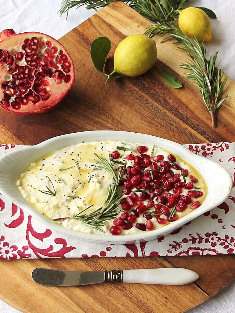 baked ricotta with pomegranate_blog_2