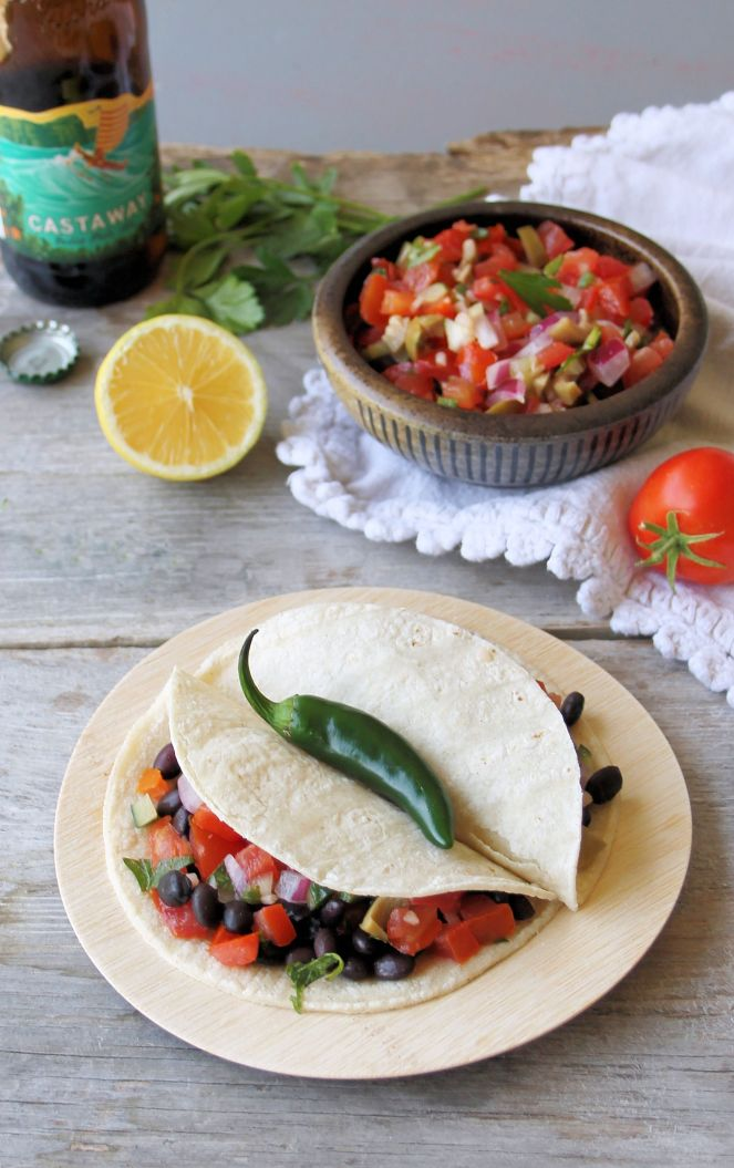 black bean tacos with salsa_blog 5