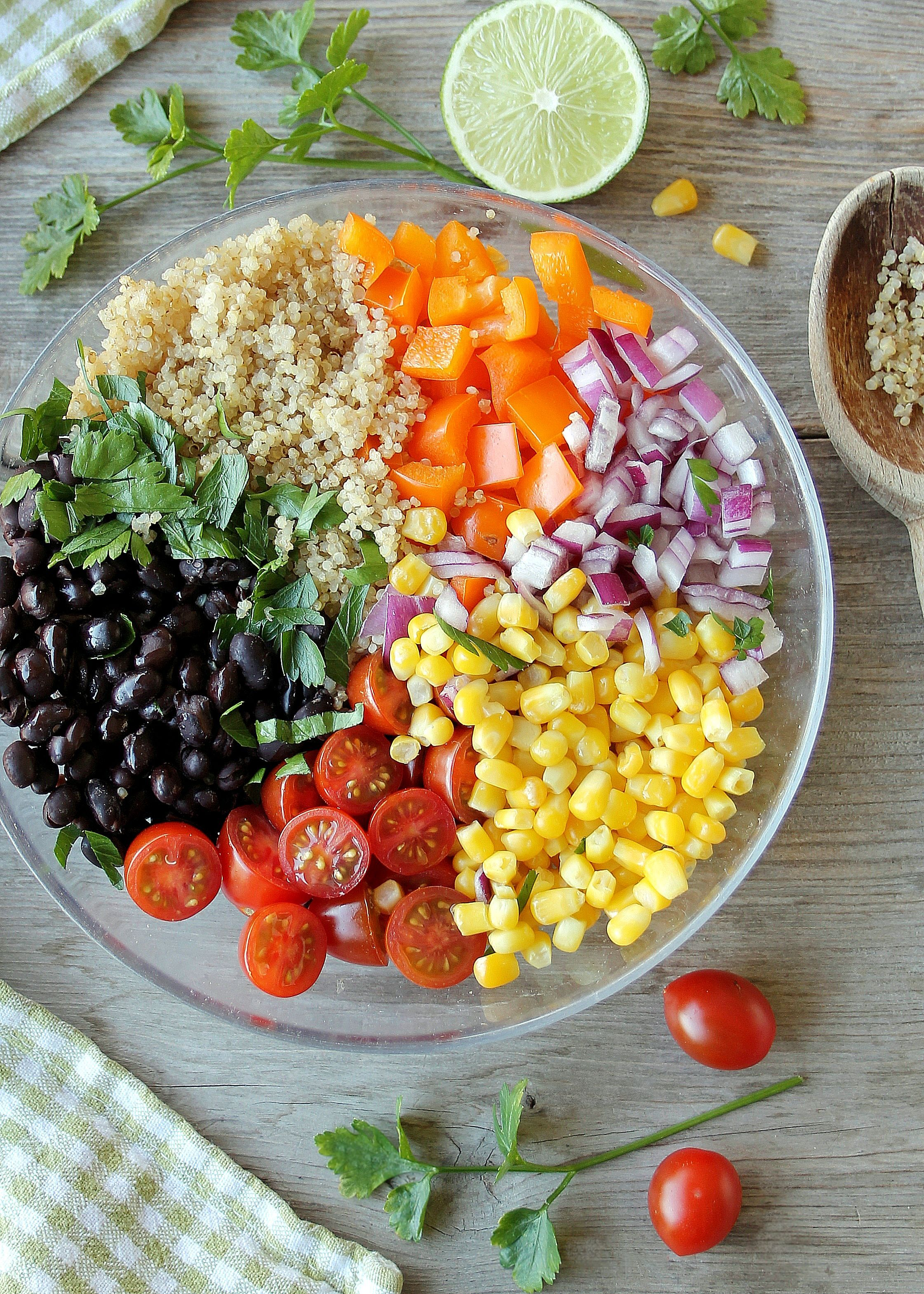 Southwestern Quinoa Salad with Honey-Lime Jam Jar Dressing