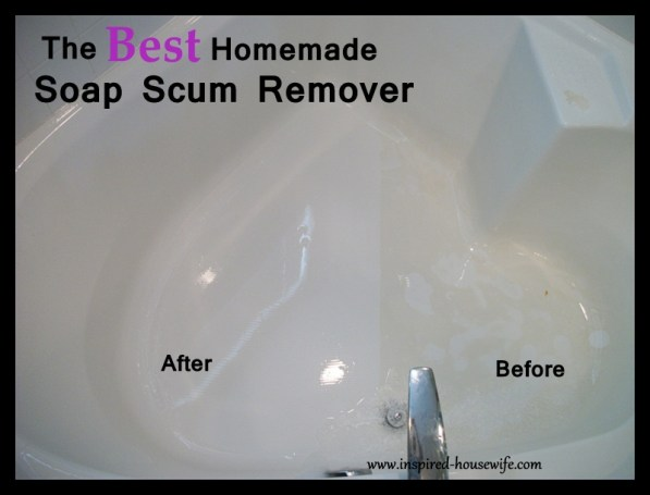 Inspired-Housewife: The Best Bathroom Homemade Cleaner Scum Remover