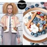 Schiaparelli couture-inspired mini blueberry pies