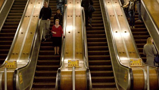 Wynyards wooden escalators