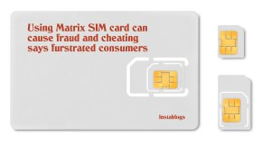 Blank micro sim card carrier