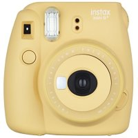 Fujifilm Instax Mini 8+ (Honey) Instant Film Camera + Self Shot Mirror for Selfie Use (Japan Import)