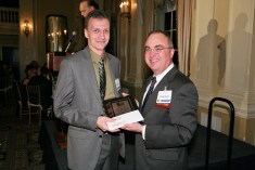 Pathfinder Award winner Dr. W. Timothy Coombs, University of Central Florida, with Frank Ovaitt, Institute for Public Relations