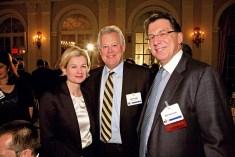 Kate James, Bill & Melinda Gates Foundation, with Jack Leslie, Weber Shandwick, and Bill Heyman, Heyman Associates