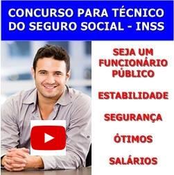 CONCURSO PARA TÉCNICO DO SEGURO SOCIAL – INSS