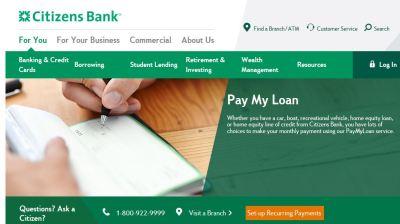 Make Citizens Loan Payment Online - www.citizensbank.com/paymyloan