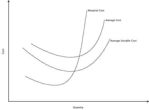 Marginal Cost, Average Cost, Average Variable Cost