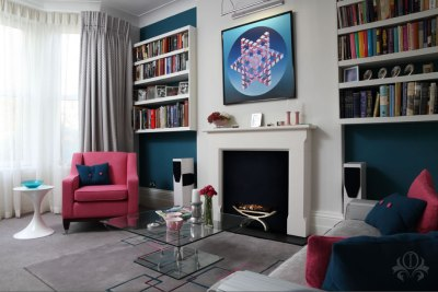 Contemporary Lounge Design Surbiton Home - Outstanding ...
