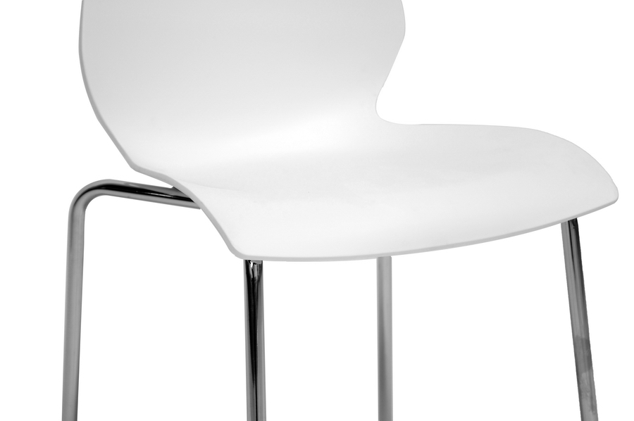 Overlea White Plastic Modern Dining Chair Set Of 2  IEDC7A