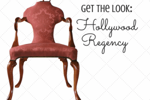 Get the Look: An Old Hollywood Inspired Living Room