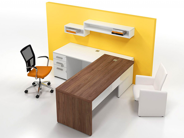Contemporary office desk c for Modern office furniture systems