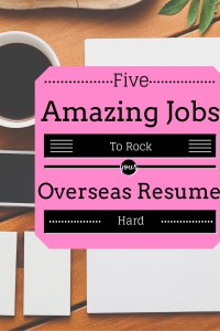 ----Five Amazing Jobs To Rock Your Resume While Overseas
