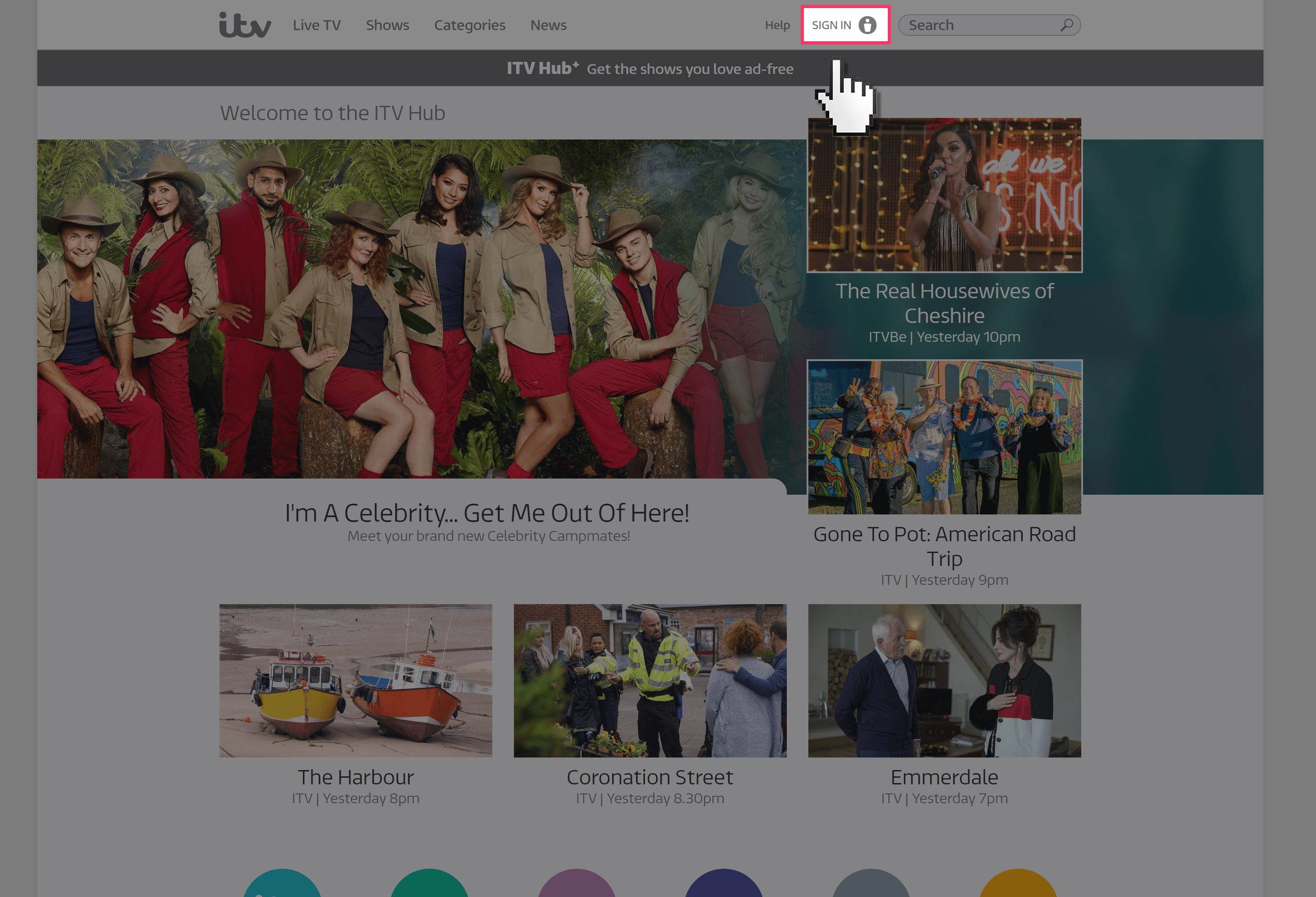 ITV Hub Parental Controls   Internet Matters  Go to www itv com and select    SIGN IN    from the navigation bar at the top
