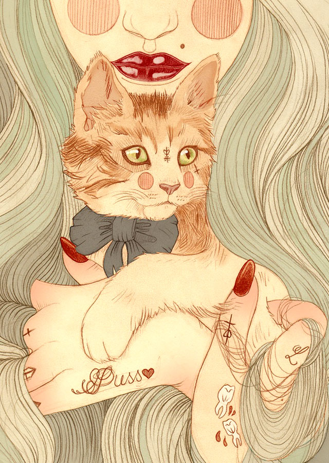 Tattoo inspired art by Liz Clements (14)