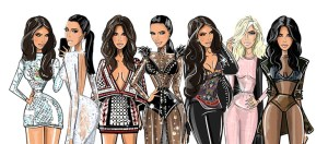 Beautiful Fashion Illustrations at the American Music Awards 2015.
