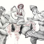 Pen and Watercolor Illustrations in Metamorfish Project by Elisa Ancori (14)