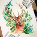Pencil_Marker_Animal_illustrations_By_Katy_Lipscomb (15)