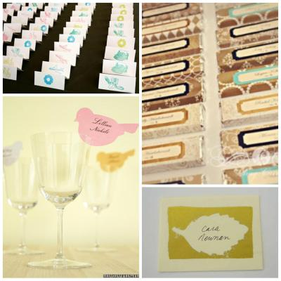16 DIY Wedding Place Cards
