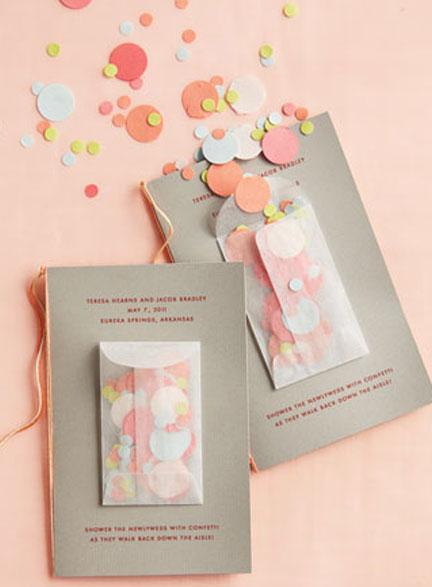 Confetti Wedding Program