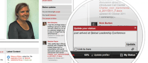 Social Media features in an example Plone intranet.