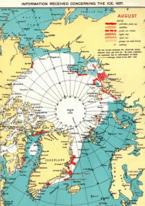 Cache of historical Arctic sea ice maps discovered   Watts Up With That