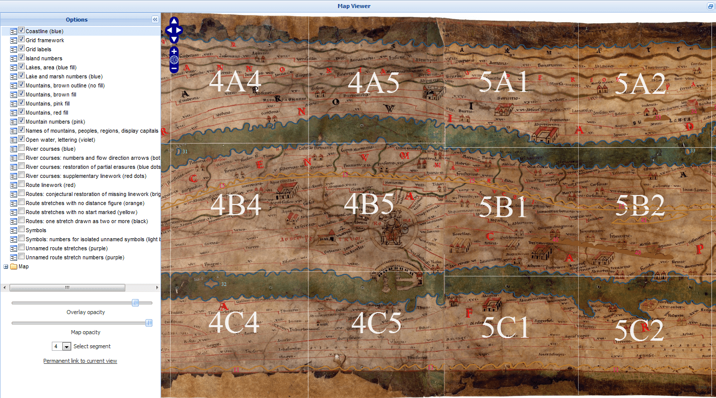 Ancient Roman Peutinger's Map of the World in BBC Story of Britain